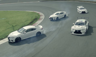 Watch the Lexus LFA and RC F Drift Around Fuji Speedway