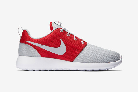 "The versatility of the Nike Roshe One is put on full display in a new ""Wolf  Grey/Gym Red"" colorway. The shoe boasts an upper that is equal parts grey  and ..."