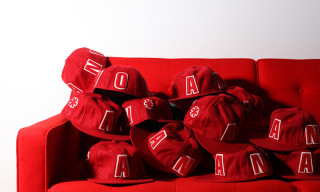 a number of names* and Ebbets Field Flannels Collaborate on Bright Red Fitted Cap