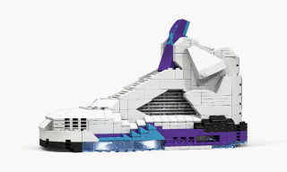 "Air Jordan V ""Grape"" Made Entirely Out of LEGO"
