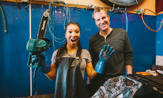 Watch Asa Akira Learn Ice Carving