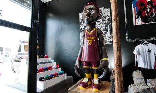 Giant LeBron James and Kobe Bryant Statues on Show at BAIT