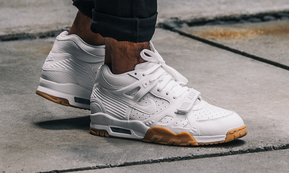 nike 39 s air trainer 3 looks clean in white gum highsnobiety. Black Bedroom Furniture Sets. Home Design Ideas