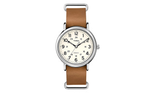 Timex Weekender Leather Oversized
