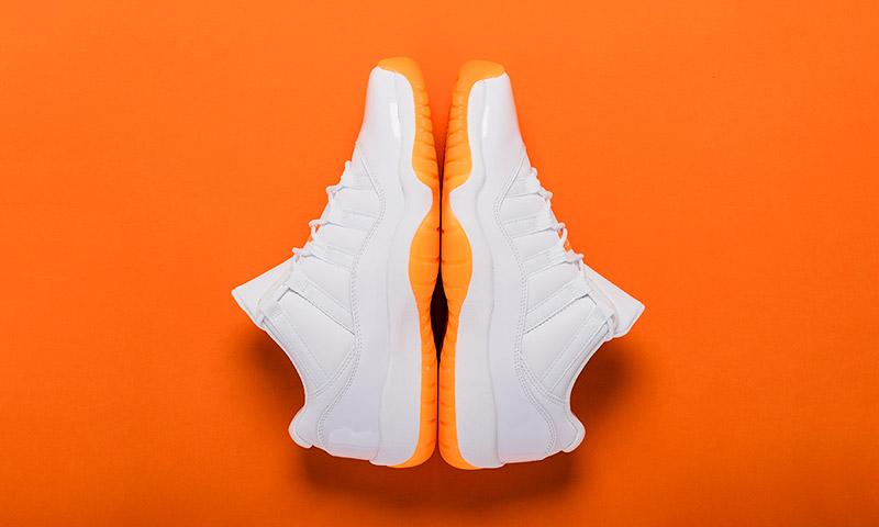 air jordan retro 11 orange white