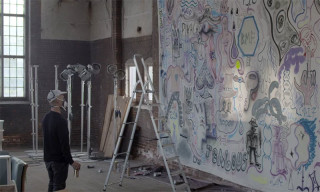Watch Artist Charlie Roberts Paint the Backdrop for Soulland's Spring/Summer 2016 Show