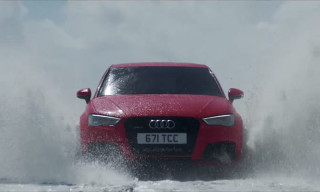 Audi RS3 Sportback Goes From Land to Sea to Take on a Speedboat