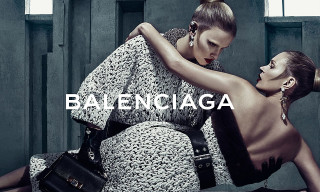Kate Moss and Lara Stone Get Close for Balenciaga's Fall 2015 Campaign