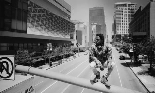 "Kendrick Lamar Raps on Top of a Street Light for ""Alright"" Music Video"