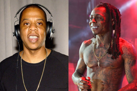 """Lil Wayne Signs Deal With His """"Idol"""" Jay Z"""