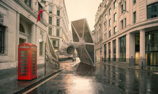 Nicolas Amiard Imagines 'Star Wars' Battleships Crash Landing in Various Cities