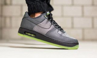 "Nike Drops ""Wolf Grey/Volt"" Pair of the Air Force 1 Elite Knit Jacquard"