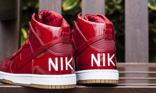 "Nike Drops Patent Leather Dunk High Lux SP ""Gym Red"""