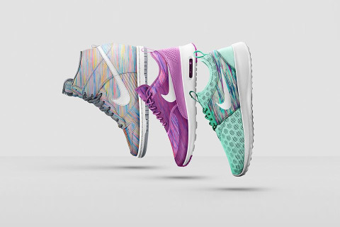 wholesale dealer fb297 667a0 Nike s blossoming relationship with floral-obsessed fabrics house and  luxury department store Liberty expands to include a set of  appropriately-patterned ...