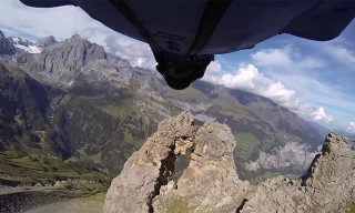 Watch an Adrenaline Junkie in a Wingsuit Fly Through a 6-Foot Crevice