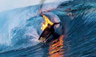 Jamie O'Brien Surfs Teahupo'o While on Fire