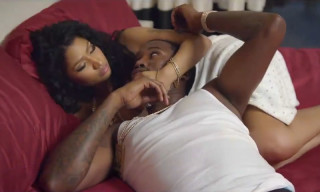 "Meek Mill and Nicki Minaj Cuddle up in Music Video for ""All Eyes On You"" Featuring Chris Brown"