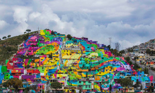 Mexican Hillside Drastically Transformed Into Vibrant Work of Art