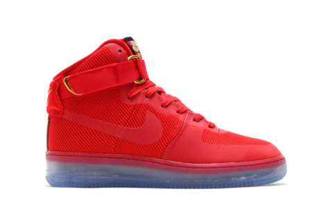 nike air force 1 high all red