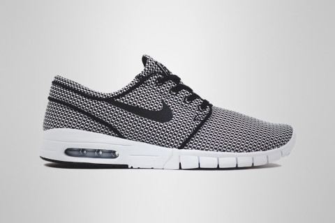 For the warm summer months, Nike SB has come through with a new breathable  mesh take on the Stefan Janoski Max. The hybrid sneaker boasts a black and  white ...