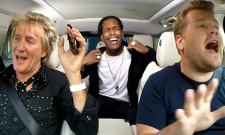 Watch Rod Stewart and A$AP Rocky Sing Karaoke With James Corden