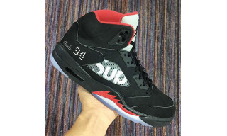 "Here's Your Very First Look at the Supreme x Air Jordan 5 ""Bred"""