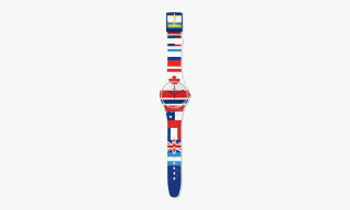 "Flags of the World Are Represented in Swatch's New ""Flagtime"" Watch"