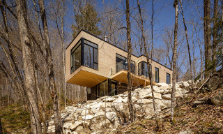 The Cliffside Val-des-Monts Cottage Overlooks a Beautiful Québécois Lake