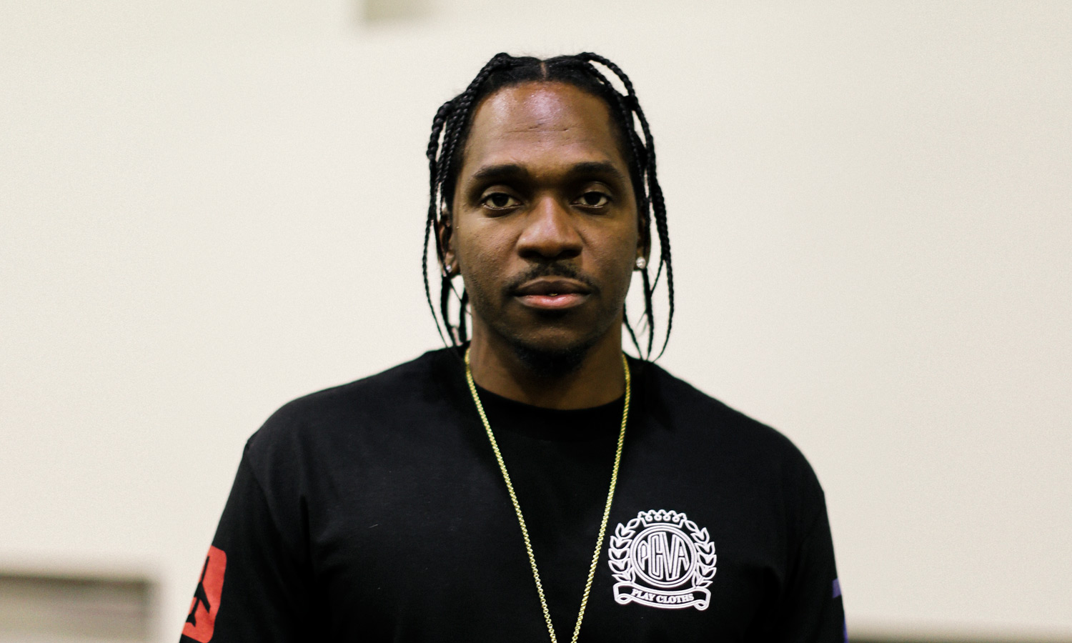 Street Style Pusha T In Play Cloths And Yeezy Boost 350
