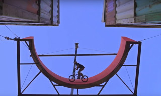 Drew Bezanson Builds Towering BMX Bike Park From Shipping Containers
