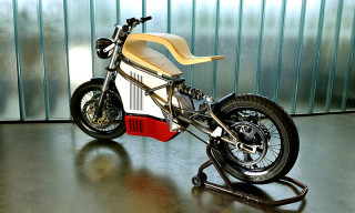 Molded Wood Meets Steel With the E-Raw Electric Motorcycle