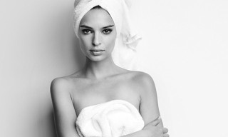 Mario Testino Shoots Emily Ratajkowski for His 'Towel Series'