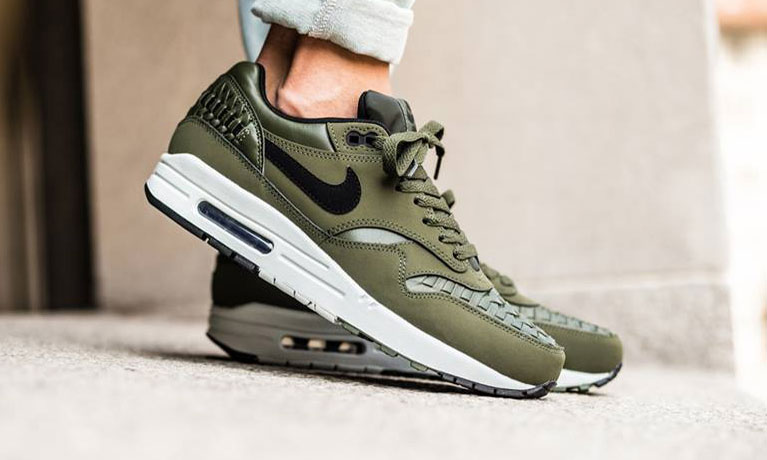 nike air max 1 woven carbon green