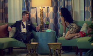 "Nicki Minaj Twerks for Robin Thicke in the Video for ""Back Together"""