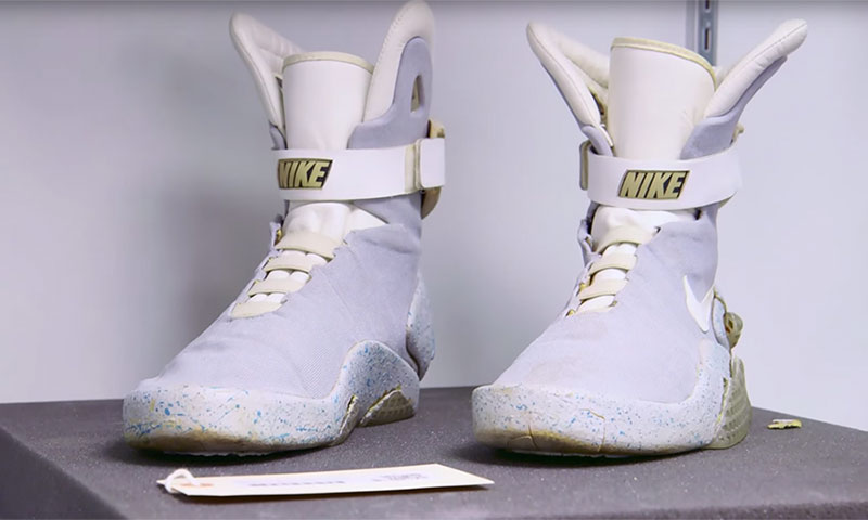 The Real Nike Air Mag Worn by Marty McFly Actually Still ...