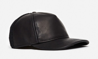 Calvin Klein Collection Leather Mesh Baseball Caps