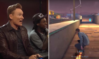 Conan Plays 'Tony Hawk's Pro Skater 5' With Tony Hawk & Lil Wayne