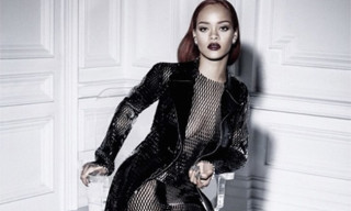 Rihanna Dons a See-Through Mesh Dress for 'Dior' Magazine