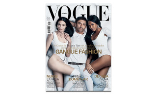 Riccardo Tisci Covers 'Vogue' Brasil October 2015 With Mariacarla Boscono & Naomi Campbell