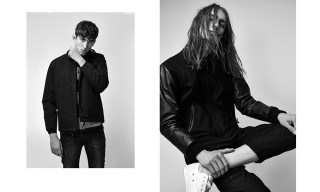 "Edwin's ""Slackers"" Editorial Champions Monochrome and Timeless Cuts"