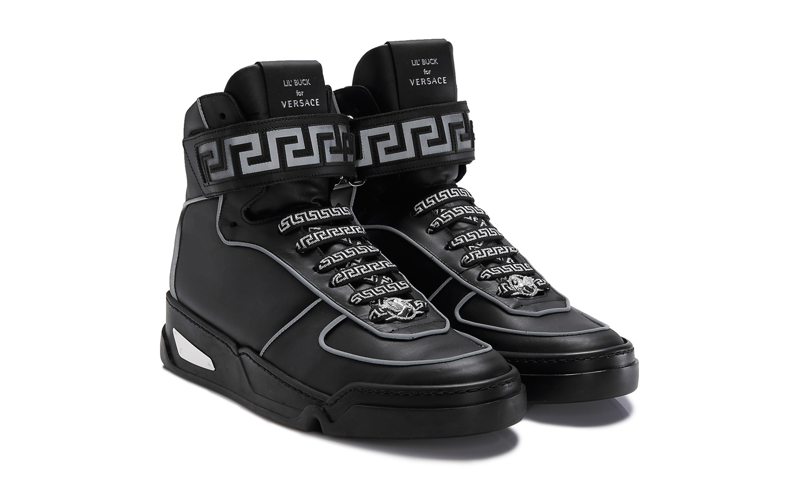 Versace Black Leather Shoes