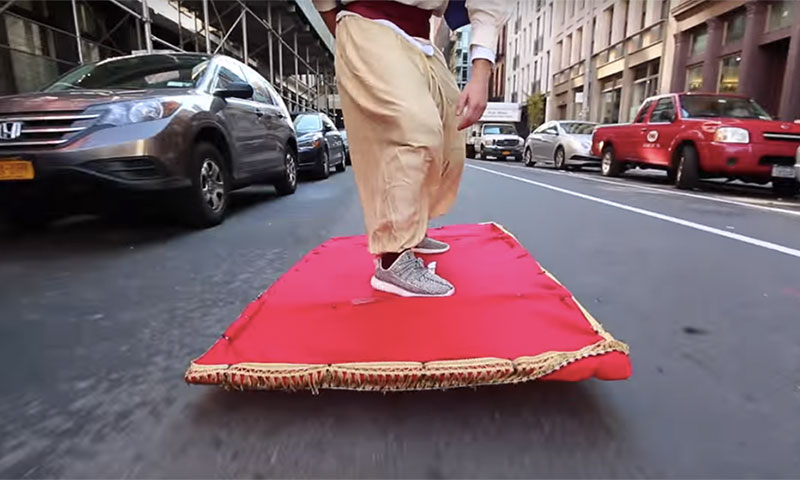 Aladdin In Real Life Watch This Epic Magic Carpet Ride