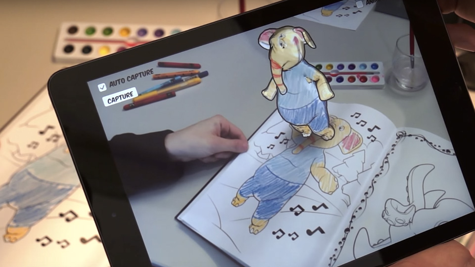 Disney Research App Brings Coloring Books To Life