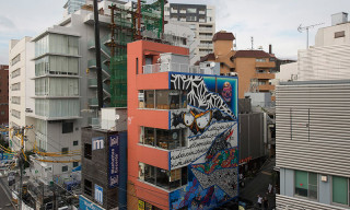 Local Artists Prep for POW! WOW! Japan With Massive Mural in Shibuya