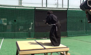 Modern Samurai Slices a 100 MPH Baseball in Half
