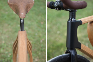 check out this 19th century inspired wooden bicycle frame