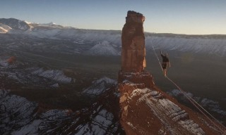 This World Record Slackline Crossing Will Make Your Palms Sweat