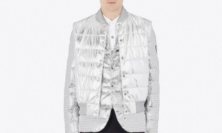Moncler Drops a Trio of Cold-Weather Styles in Metallic Silver