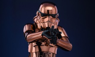 Outfit Your Workspace With This Beautiful Copper Chrome Stormtrooper Figurine