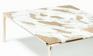 Marble and Bronze Merge Seamlessly on GT2P's Coffee Table